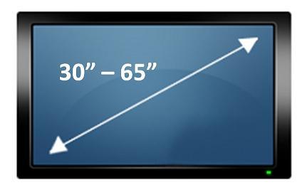 Suporte de teto para TV Plasma/LCD de 30´ à 65´ - giro 360º  Brasforma SBRP650