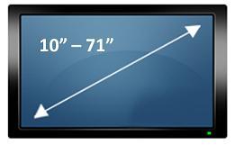 Suporte Universal de Parede Fixo para Tv Plasma Lcd Led de 10 à 71 Brasforma Sbru758