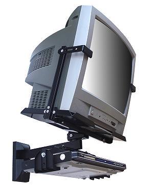 Suporte de parede para TV tela plana convencional de 14´à21´+DVD Brasforma SBR1.1