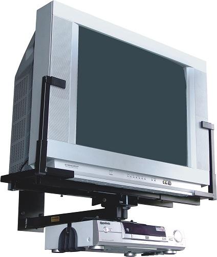 Suporte de parede para TV Brasforma SBR1.6 Preto de 14´à21´+DVD