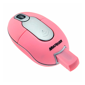 Mouse Mini Optico Usb Rosa sem Fio Multilaser Mo102