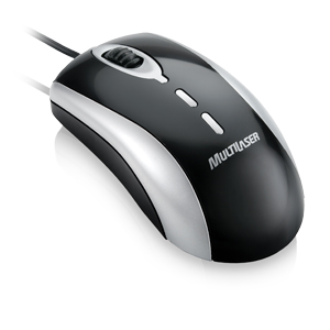 Mouse Usb Optico Preto/Prata Multilaser Mo010