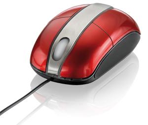 Mouse Usb Optico Vermelho Piano com Iluminação Steel Usb Multilaser Mo133