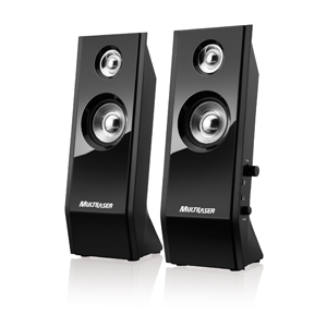 Caixa de Som Speaker 2.0 8W Rms Black Piano Shadow Multilaser Usb Sp091