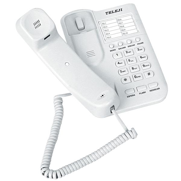 Telefone Padrão Teleji Kxt 881 Branco
