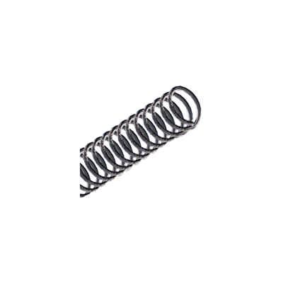 Espiral Encadernação 7mm Plástico Preto Cap.25Fls ExcentrixPcte. 100 Unid