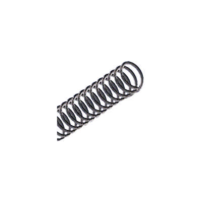 Espiral p/ encadernação 17mm plástico Preto cap.100fls ExcentrixPcte. 100 unid.