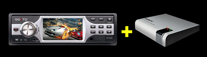 DVD Car 3´ GT1 S100 + 501  GoTo
