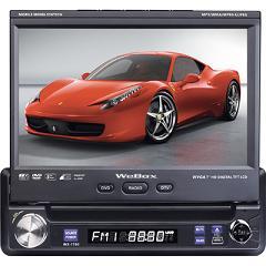 DVD Car Retratil 7 Wee Box Wx 1700 Go To