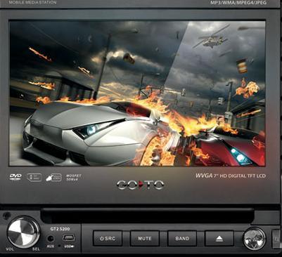 DVD com Tela Digital Retrátil 7 Hd e Touch Screen Go To Gt2 S200