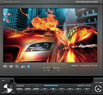 DVD com Tela Digital Retrátil 7 Wvga Tft Lcd e Touch Screen Go To Gt2 S201