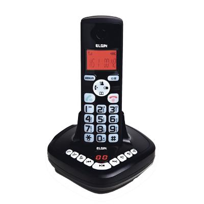 Telefone sem Fio Elgin Home Se Dect 6.0 1,9ghz Secretária Viva Voz Identificador Babá Elet