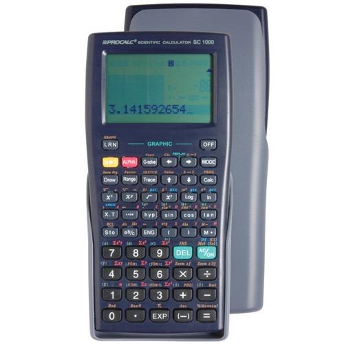 Calculadora Científica Procalc Sc1000 360 Funções Visor Gráfica Lcd 58x38mm Cr2032