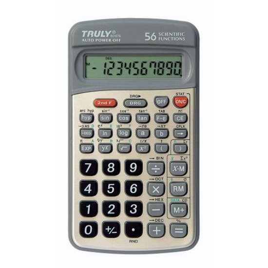 Calculadora Científica Truly Sc107G Truly 56 Funç Cient 10 Díg Capa Deslizante Metalizada