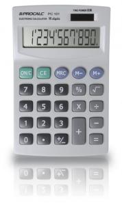 Calculadora de Mesa Procalc Pc101 10 Díg Grandes Solar/Bateria Visor Inclinado