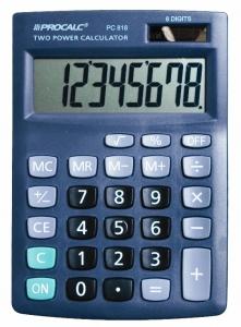 Calculadora de Mesa Procalc Pc818 8 Díg Grandes Solar/Bateria Visor Inclinado