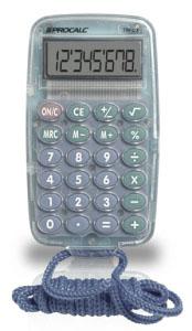Calculadora de Bolso Procalc Tr03-G 8 Díg Cinza Bateria Acompanha Uma Corda G10