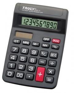Calculadora de Mesa Truly 806B-10 - 10 dígitos, solar/pilha AA (1.5V), visor inclinado