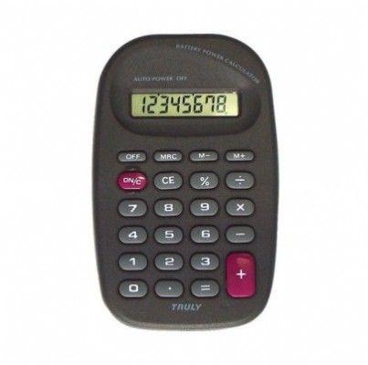 Calculadora de Bolso Truly 318A-8 8 Díg Funciona a Bateria (G10) Nova Versão 318-8