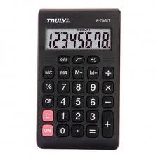 CALCULADORA DE BOLSO TRULY 283 - 8 díg, visor e teclas grandes, bateria (G10)