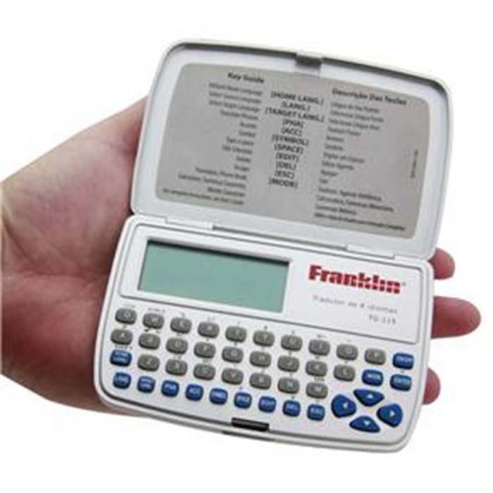 Tradutor Eletrônico Franklin Tg115 8 Idiomas Calculadora Conversor de Moedas e Métrico