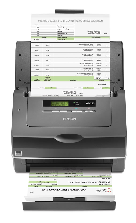 Scanner Epson Workforce Pro Gt-S50 Alimentador Automático de Folhas Colorido Frente/Verso