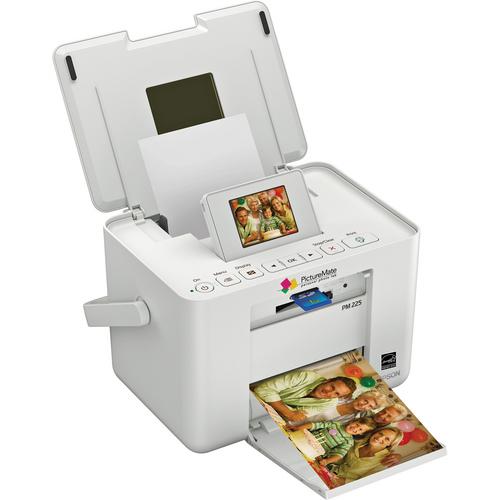 Impressora Epson PictureMate Charm 225 - Jato de Tinta, 4 cores, Portátil, imprime fotos de 10x15 cm
