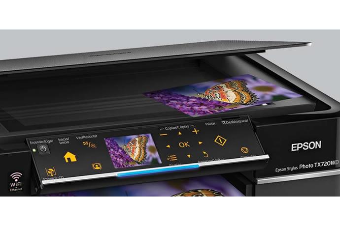 Epson Stylus Photo TX720WD J. Tinta 6 cores (touch screen+wireless+duplex) - Disponibilidade: 14 dias + frete