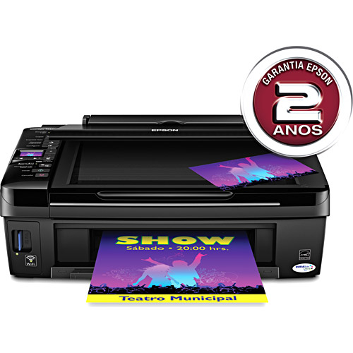 Multifuncional Epson Stylus TX420W Impressora, Scanner, Copiadora, wireless, visor lcd