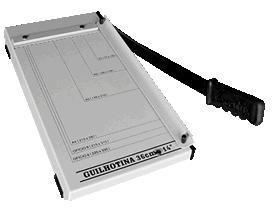 Guilhotina Excentrix LV36 - Comp. do Corte: 355 mm, Dim. da Base: 240x453 , Cap. de Corte: 10fls, Peso: 3K