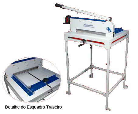 Guilhotina Semi Industrial Master Excentrix STD340 Com Mesa Comp do Corte: 340 mm, Dim. da Base: 540x530x230, Cap. de Corte: 300 folhas, Peso: 42 k