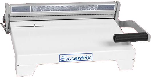 Encadernadora para Espirais Excentrix P-15 - 36cm/60 furos, Dim. da Base: 380x400 mm, Cap. de Corte: 15 folhas, Peso: 11k