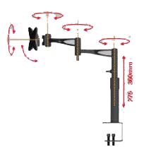 Suporte de Mesa Articulado com Inclinação Mi006 para Monitor Lcd/Led de 10 a 19 Multivisão