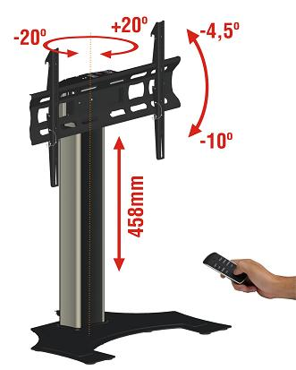Pedestal automatizado FL500 para TV LCD/PLASMA/LED de 37´ a 60´ - Multivisão