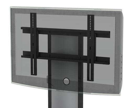 Rack Futurity Ii para Televisão 1220 Pp Preto com Detalhes Prata Metavila