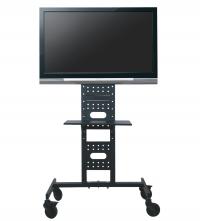 Rack Brasforma SBRR0.1 para TV LCD LED PLASMA 3D 37´ a 60´ Com Rodas, Ideal para salas, escritórios e apresentações