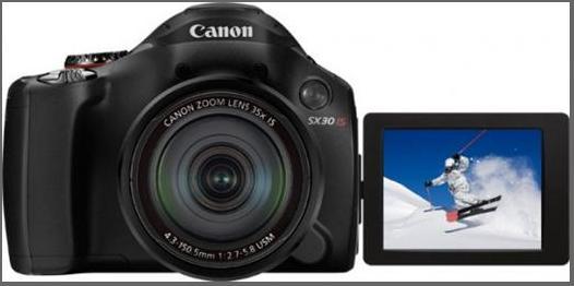 Câmera Digital Canon Sx30 Is 46Rsx30Bk000 14,1 Mpixel Display Articulado de 2,7