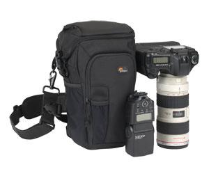 Bolsa Lowepro com Capa de Chuva para Câmera Dslr Lente e Acessórios Toploader Pro 75Aw