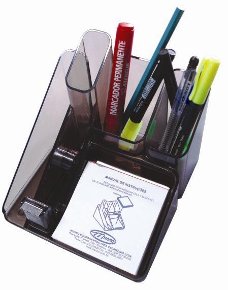 Porta Objetos com Suporte para Fita Adesiva Menno 2612 Preto
