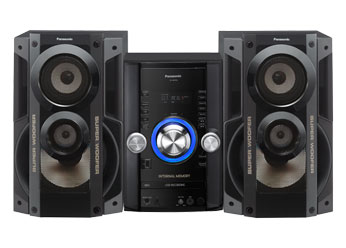 Mini System Panasonic Sc-Akx52Lb-K 650 W Rms 2gb Mem. Interna Usb Rec & Play