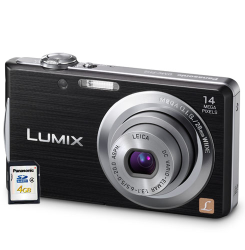 Câmera Digital Panasonic Lumix Dmc-Fh2Lb-K/P 14mp Lcd 2,7 Hd e Cartão 4gb