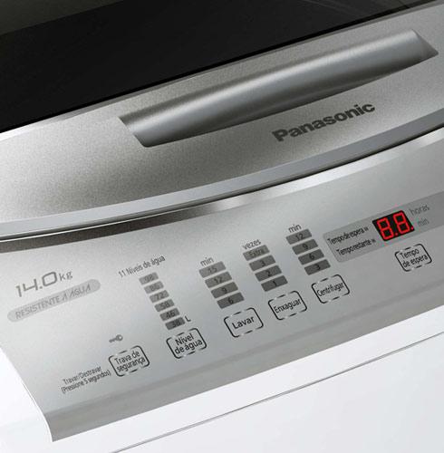 Lavadora de Roupas Panasonic - NA-FS14G1 - 14 Kg , Sistema de Lavagem DWS, Voltagem 127, Tampa em Vidro Temperado, Cesto em Aço Inox , Tecnologia: INVERTER. 8 programas ´standard´ , 1 programa opciona