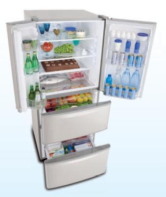 Refrigerador Nr-D512xz-S3 Panasonic 432 Litros Inox 110v