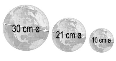 Globo Lunar Libreria Lua Prata 110v 21cm Base Pls Principais Crateras Lagos Montes da Lua