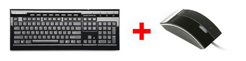 Combo Teclado Pkb8000 Samsung Pleomax Zen Usb / Ps2 e Mouse Spm8000