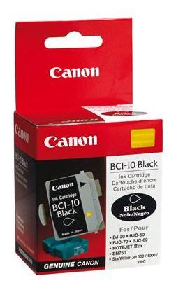 Cartucho de Tinta Canon Elgin Bci-10 Bk ( Cx C/3 Unid ) Bj 30 / Bjc 50 / 55 / 70 / 80 / 85