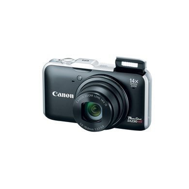 Câmera Digital Canon Sx230 Hs 46Rsx230Bk00 CMOS 12,1Mp Display Widescreen 3,0