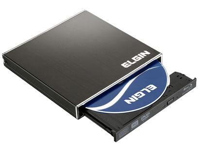 Leitor e Gravador de BluRay Externo Elgin mod. BD-01 E  cod. 46RBLURAYRW1 c/ alimentação via USB ( Slim )