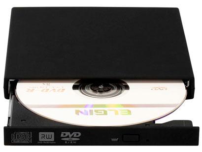 Leitor e Gravador de DVD Elgin DVD-Rw01E 46RDVDrwe010 Externo Alimentação Via Usb (Slim)