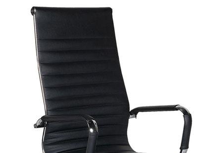 Cadeira Diretor em Couro Multivisão Preta Cad-Slim-Pr